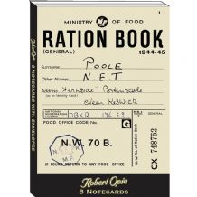 Ration Book and Nervous Pills Notecards